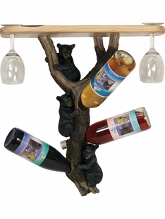 BEAR WINE RACK/SHELF