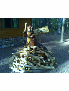 BEAVER AND LODGE W/SIGN