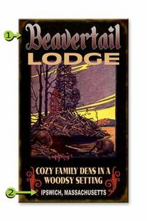 BEAVERTAIL LODGE PERSONALIZED SIGN