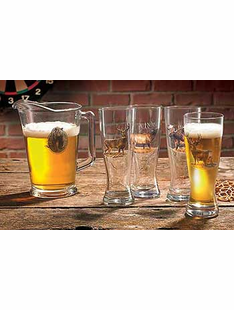 BIG GAME PITCHER & PILSNER 5 piece set