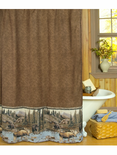 BIG MOOSE CREEK SHOWER CURTAIN