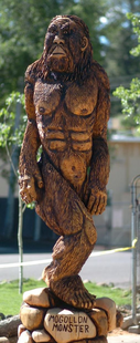 BIGFOOT 12 FT CUSTOM CHAINSAW CARVING