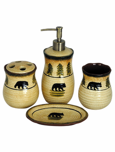 BLACK BEAR 4PC. BATH SET