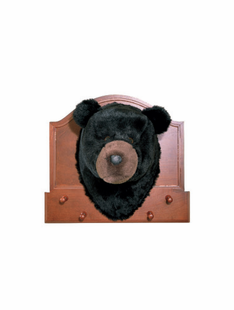 BLACK BEAR COAT RACK W/PEGS