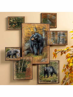 Black Bear Wall Collage Art