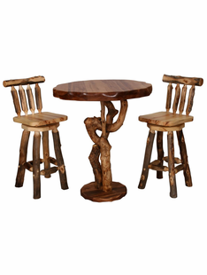"BLUE RIDGE ASPEN FREE FORM 3' ROUND PUB TABLE W/3"" THICK TOP"