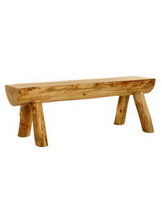 BLUE RIDGE ASPEN HALF LOG BENCH 4'