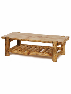 BLUE RIDGE ASPEN HALF LOG COFFEE TABLE
