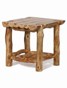 BLUE RIDGE ASPEN HALF LOG END TABLE