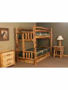 BLUE RIDGE ASPEN TWIN BUNKBED WITH LADDER