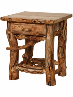 BLUE RIDGE GRIZZLY ASPEN 1 DRAWER NIGHTSTAND