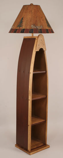BOAT FLOOR LAMP WITH SHELVES