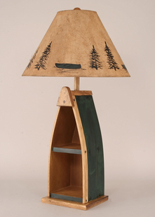 BOAT TABLE LAMP WITH SHELF