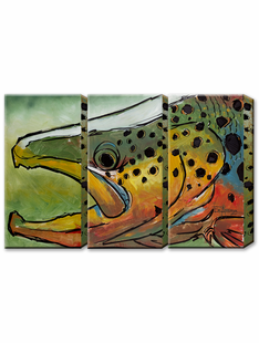 BROWN TROUT-Lg. Metal Art