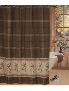 BROWNING BUCK MARK SHOWER CURTAIN