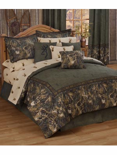 BROWNING WHITETAILS BED SET QUEEN