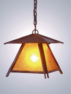"BUNDLE OF STICKS HANGING PENDANT LIGHT - 13""H X 11"" X 11""W"