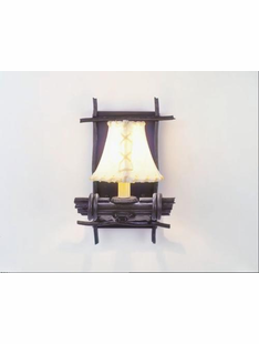 BUNDLE OF STICKS RUSTIC STEEL SINGLE WALL SCONCE