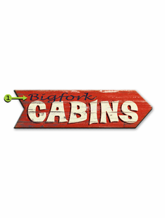 CABIN ARROW PERSONALIZED SIGN