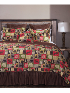 Cabin In the Woods King 5 piece Bedding Set