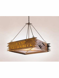 "CAMP (PERSONALIZED)CHANDELIER ("" CAMP NEED A BUCK"" EXAMPLE) -24""H X 27"" X 20""W"