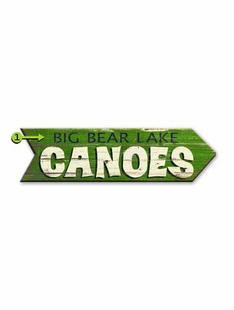 CANOE ARROW PERSONALIZED SIGN