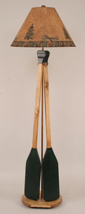 CANOE PADDLE WOODEN FLOOR LAMP