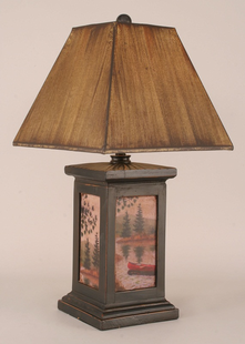 CANOE PAINTING TABLE LAMP