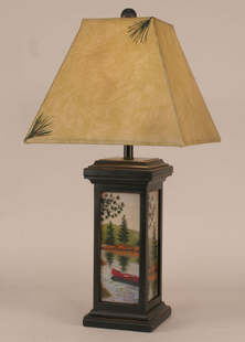 CANOE SCENE TABLE LAMP
