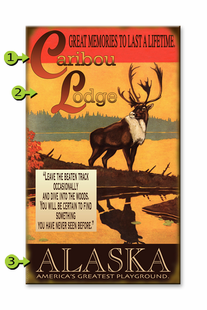 CARIBOU LODGE PERSONALIZED SIGN