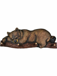 CARVED LOOK BEAR WALL COAT RACK