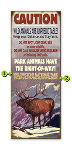 CAUTION ELK PERSONALIZED SIGN