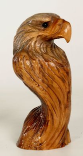 """CHAINSAW CARVED EAGLE HEAD"""" LIBERTY"""""""