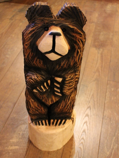 CHAINSAW CARVED-HIGH COUNTRY STANDING BEARS