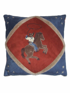 CHILDRENS COWBOY THROW PILLOW