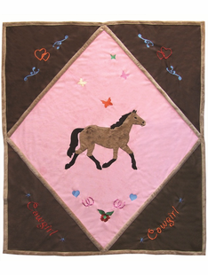 CHILDRENS COWGIRL BUTTERFLY THROW