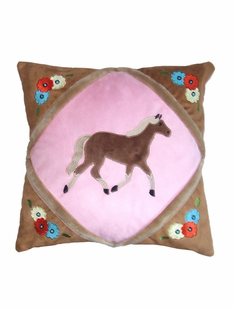 CHILDRENS COWGIRL THROW PILLOW