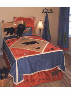 CHILDRENS LODGE BED SET- TWIN