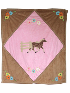 CHILDRENS PINK  DIAMOND THROW