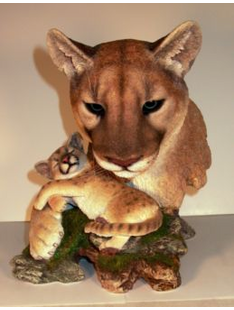 COUGAR SCULPTURE- CUDDLE TIME