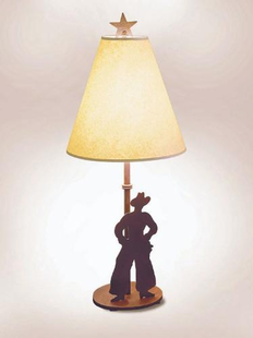 "COWBOY TABLE LAMP-30""H X 13""W"