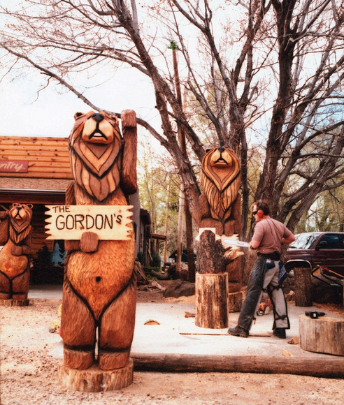 Custom Chainsaw Carvings Totem Poles Bears More Theburlybearcom