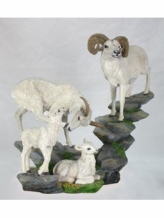 DALL SHEEP FAMILY SCULPTURE