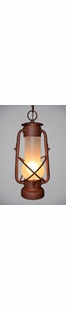 "DECATUR  HANGING PENDANT LIGHT - 17.5""H X 11"" X 11""W"