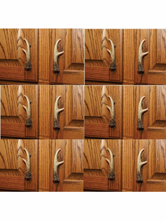 DEER ANTLER DRAWER PULL SET OF 12