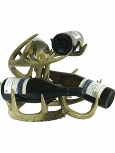 DEER ANTLER FAUX WINE RACK