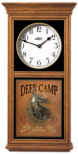 DEER CAMP REGULATOR CLOCK OAK OR BLACK