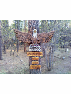 EAGLE W/TROUT CUSTOM CARVING