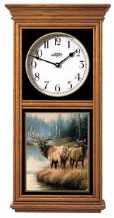 ELK REGULATOR CLOCK OAK OR BLACK