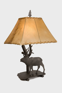 "ELK SHASTA TABLE LAMP-22""H X 16"" X 12""W"